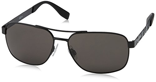 BOSS Orange Herren 0285/S Ir Sonnenbrille, Schwarz (MATT BLACK/GREY BLUEE), 59