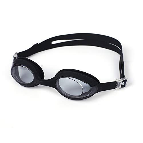 Schwimmbrille, Schwimmbrille mit Antibeschlag und UV Schutz, Schwimmbrille für Männer und Frauen, wasserdicht und beschlagfrei, Einteilige Schutzbrille, schwarz