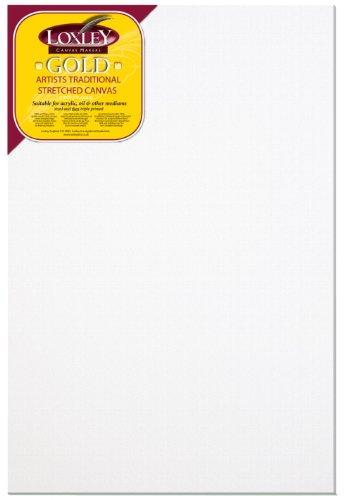 Loxley Gold LCM-3624 - Lienzo preestirado, color blanco