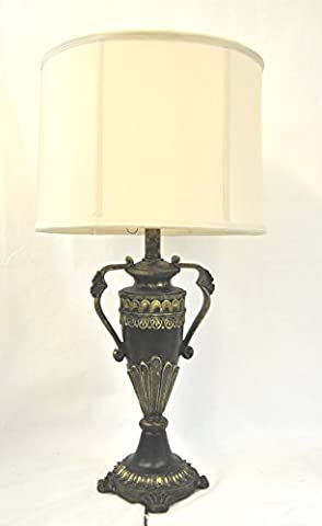 Vintage Antique Style Black And Gold Large Table Lamp