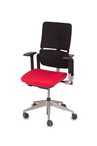 """TexDeko Bezug für Bürostuhl - Husse für Bürodrehstuhl & Schreibtischstuhl, Chefsessel, Bürosessel \""""one Size fits All\"""" (rot)"""