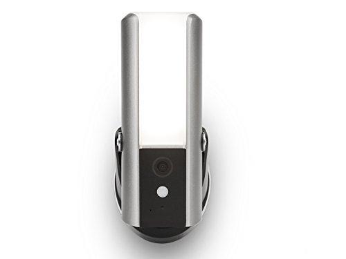 SecuFirst LCA230 - Lampada da esterni intelligente con telecamera IP integrata, Wi-Fi, Full HD 1080p, rilevazione di movimento, risparmio energetico 10 Watt, memoria immagine fino a 128 GB