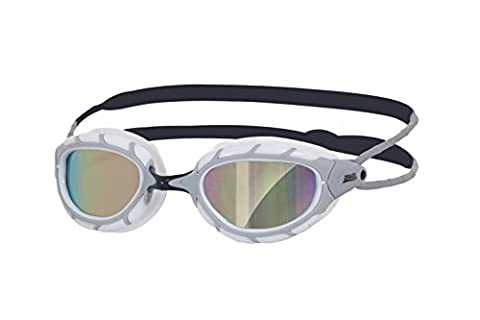 Zoggs Unisex Predator Mirror Swimming Goggles, White/Mirror