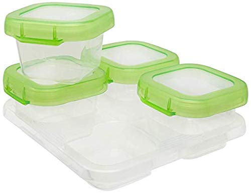 LARRY SHELL 4 Pcs Baby Food Supplement Storage Box, Snack Box, Sealed, Waterproof und Leakproof. Store, Carry, Heat, Serve Homemade Baby Food, Geschirrspüler Safe