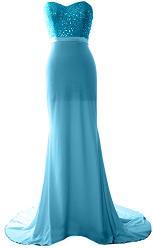 Turquoise Strapless Dress (MACloth Gorgeous Mermaid Bridesmaid Dress Strapless Jersey Sequin Long Prom Gown (Custom Size, Turquoise))