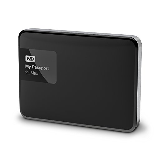 WD 2TB  My Passport for Mac Portable External Hard Drive - USB 3.0 - WDBCGL0020BSL-EESN