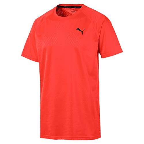 Puma Herren SS Tech Tee T-Shirt, NRGY Red, L -