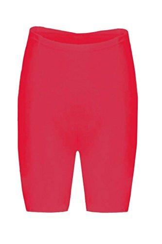 Damen Dehnbar Hot Hose Leggings Tanzende Fahrrad Strumpfhose Shorts Übergröße Red - Party Evening