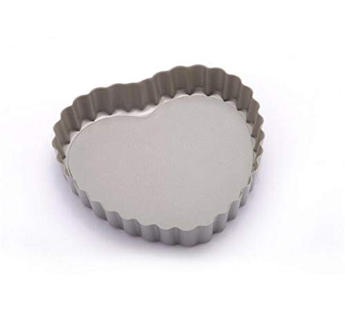 Heart-Shaped Mini Pie Pan Ausdauer Edelstahl Backformen Backen, geriffelt Flan Tin, Quiche Pan, Pizza Tin Pan Pizza
