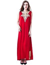 vetement femme musulmane   muslima abaya robe islamique Caftan brodé  jalabiya rayonne dubai maxi dress longue 60a17ab8fe4