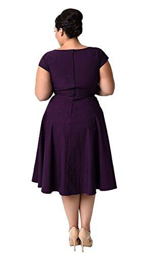 Damen Grosse Grossen Rockabilly Kleid Oriention 50er Jahr Plus Size
