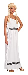 Carnival Toys - Disfraz romana en bolsa, talla única, color blanco (80399)