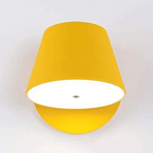 WHKHY Lámpara de Pared LED de Bedchamber Pasillo Lámpara de Pasillo Personalidad de Objetos de iluminación Exquisito Batería de Pared de Cama de Tambor Color Negro, Azul, Verde, Amarillo (Azul),Amari