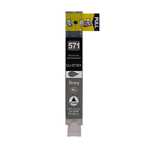Preisvergleich Produktbild 1 Druckerpatrone kompatibel zu CLI-571GY Grau für Canon Pixma MG7750 MG7751 MG7752 MG7753