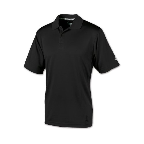 Champion Double Dry Mens Solid-Color Polo Shirt Black