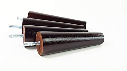 Möbelfüße aus Holz Ersatz Beine für Sofas, Stühle, Sofas–Set von 4–150mm Hoch–M8(8mm)–pkc2117d