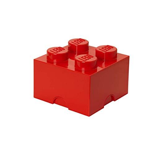 LEGO Storage Brick Lunch Box 4, Rosso, 12.3x12.3x18.3 cm