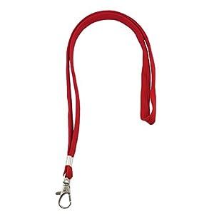 Ujoy da 100 cm 45,01 (17,72 cordino da collo con chiusura girevole per carte d'identità, badge, chiavi, dipendenti, studenti e visitatori, ecc. rosso
