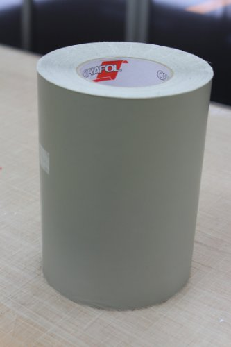 ORAMASK 810 Schablonenfolie, Format: 20cm x 10m, Stencil Film, Maskierfolie, transluzent grau eingefärbte Spezial-PVC-Folie mit matter Oberfläche, geeignet für Fahrzeugbeschriftungen, Malarbeiten, Spritzarbeiten, Schablonenarbeiten, hohe Geschmeidigkeit für ebene und unebene Untergründe