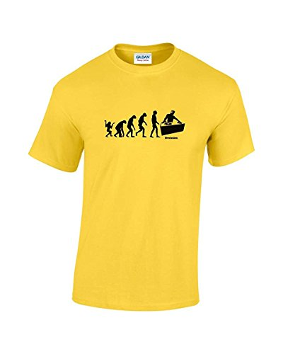 Evolution Of DJ Funny Man-T-Shirt Giallo