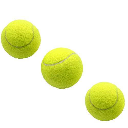 Limeo Palline da Tennis per Allenamento Palla da Tennis Palline da Tennis Palla da Tennis per Bambini Allenamento Tennis Tennis in Gomma Articoli Sportivi Elastici Molto Flessibile (Totale 3)