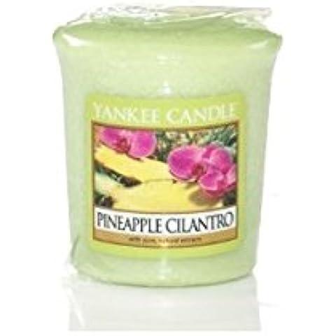 Yankee Candle-Candela profumata, aroma: ananas & coriandolo-Sampler votivo, nuovo prodotto per il 2013