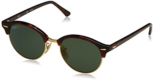 RAYBAN JUNIOR Unisex-Erwachsene Sonnenbrille Clubround, Red Havana/Polargreen, 51