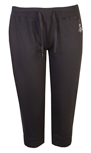 Flirty Wardrobe Pantalon court culture Pantalon de survêtement en coton Uni Par Brody Co ® & manchette de voyage Gym Dance Noir