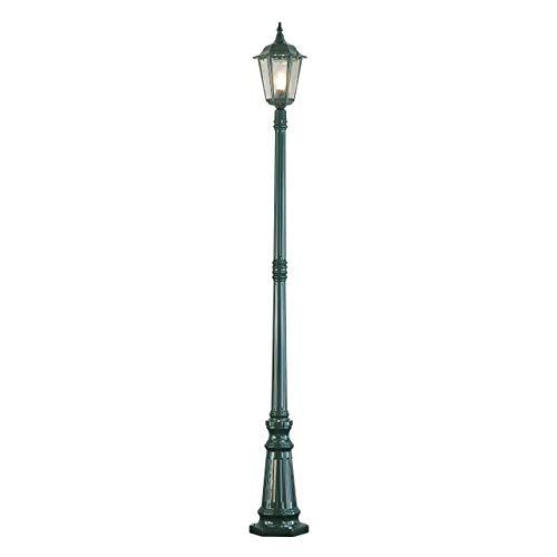 Konstsmide Firenze 7233-600 Mastleuchte / B: 25cm T: 25cm H: 220cm / 1x100W / IP43 / lackiertes Aluminium / grün