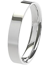Nuevo sólido Argentium plata 3mm pesado de corte con forma de confort Fit Unisex anillo de boda banda disponibles en todos los tamaños de H–Z + 3| fabricado en el Reino Unido. & Hallmarked
