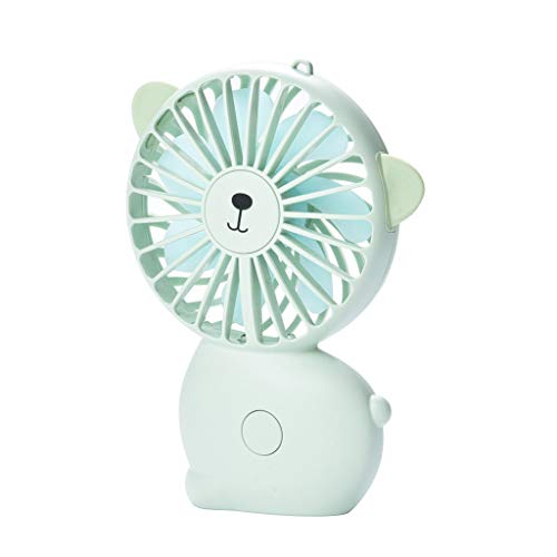 YWLINK Mode Mini Ventilateur de Poche, Main Ventilateur de USB Rechargeable Portable Silencieux, Ventilateur à Piles pour la Maison, Le Bureau, Le Camping et Les Voyages(Vert)