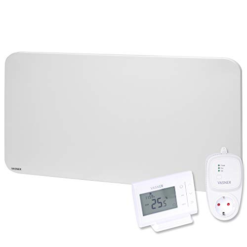 VASNER Citara M-Plus Infrarot Heizung Metall weiß 900 Watt mit Thermostat VFT35 Wandmontage Deckenmontage Flächenheizung Elektroheizung runde Ecken