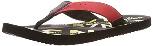 Reebok Men's Gradient Flip Ii Lp Red Attack,Solar Green and Black Leather Thong Sandals - 6 Uk  available at amazon for Rs.539