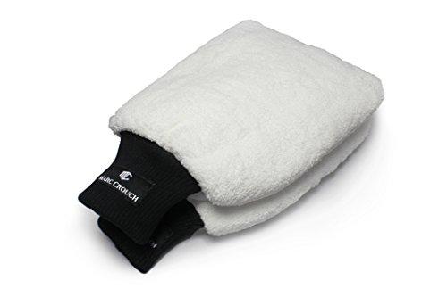 [2er PACK] 18x28cm Mikrofaser Handschuhe mit unglaublicher Saugstärke – Perfekt für die Nassreinigung von Autos/KFZ, Motorräder oder im Haushalt – Waschhandschuh mit 4 Laschen für den ultimativen Halt