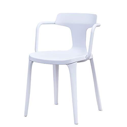Eytup Chaise de Loisirs Restaurant Moderne Minimaliste Paresseux Chaise Blanche Mode Bureau Bureau Chaise arrière (Couleur : E)