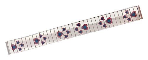 Bracelet de Rechange Citime en Acier Inoxydable, Argenté Fini Brillant Avec Des Icônes De Coeur, Bande 14mm - S14002
