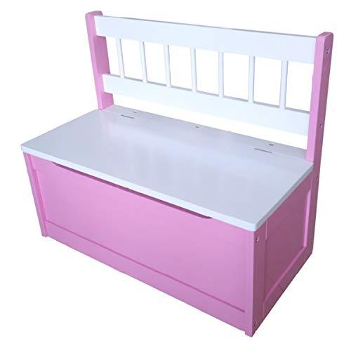 Unbekannt Kinder Truhenbank pink/weiß 60 x 50 x 30 cm Aufbewahrung Kinderzimmer Ordnung
