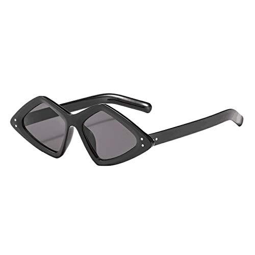 Dtuta Sonnenbrillenaufsatz FüR Brille Damen Sunshade Eye UnregelmäßIgen Reisnagel Leopard Cool Street Dance Dekoration Wilden Trend Mode Sonnenbrille
