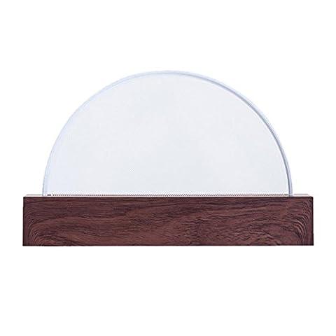 WOQU® Touch Schreibtischlampe Schlafzimmer Massivholz Nachttischlampe dimmbar Nachtlicht Baby Schlaflicht 234 * 44 * 142MM