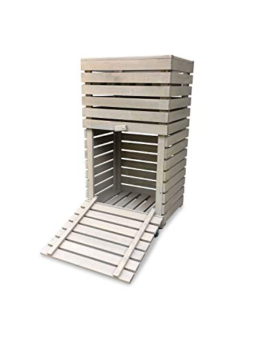 Hochbeet MultiBox S GartenBox BücherBox KräuterBox Rollwagen in grau B42 x T32 x H80 cm