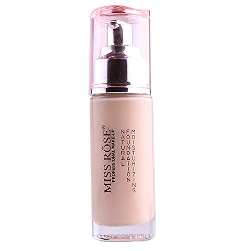 Cwemimifa Conceal and Define Flüssiger Concealer,Miss Rose Liquid Foundation Gesichtsfarbe wasserdichte Concealer-Make-up-Basis,Beige