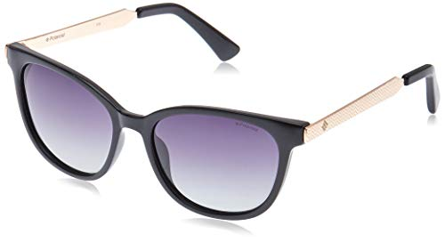 Polaroid pld 5015/s ix occhiali da sole, nero (black rose gold/grey sf pz), 55 donna