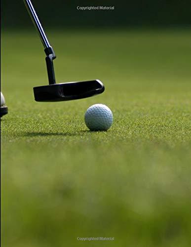 Golf - Putting Perfection Notebook: Journal Paper Notebook por UltimateMade