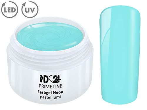 5ML - PRIME LINE - UV Farbgel NEON PASTEL LUMI French Color Gel Modellage NailArt Design Nagel Blau - MADE IN GERMANY
