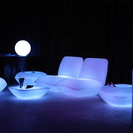 Italienische kunststoffbeleuchtung | Kissen Lounge Stuhl Hocker Beleuchtung Möbel Sofa mit Adapter und Fernbedienung -
