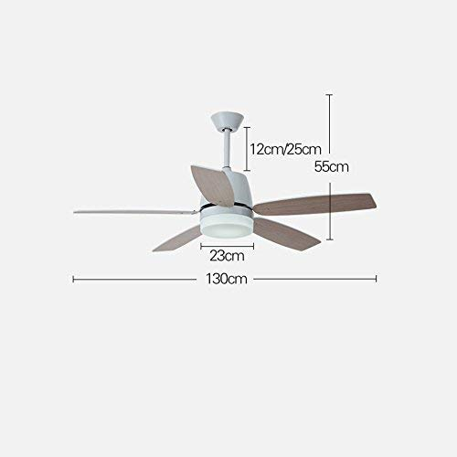 JZX Deckenventilator Salon 110-220 V Holz Deckenventilator Licht Fan Blade Fan Fernbedienung Licht,A - Salon Deckenventilator