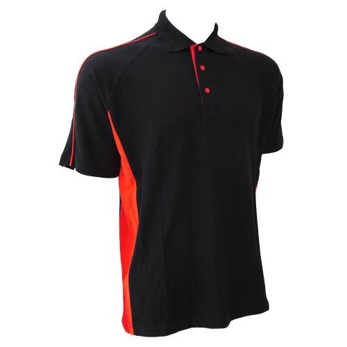 Finden & Hales Herren Polo-Shirt Sports Königsblau/Weiß