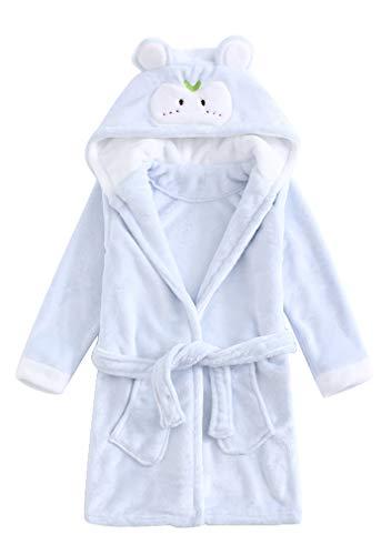ABClothing Kinder Bademantel Comfy Robe Soft Fleece mit Kapuze Unicorn Nighties Unisex -