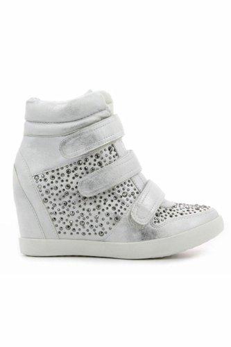 Go Tendance, Damen Sneaker Silber - Argenté