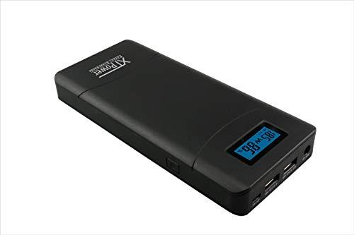 XTPower® XT-20000QC3 Powerbank moderner DC + USB QC3 Akku mit 20400mAh - 1x USB, 1x USB QC3 und DC Anschluss von 12 bis 24V 65W max. - Power Bank für Laptop, Tablet, iPhone, Galaxy, UVM.